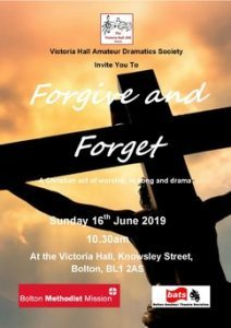 2019 Forgive and Forget - Drama Sunday  16th June   victoriahallads com